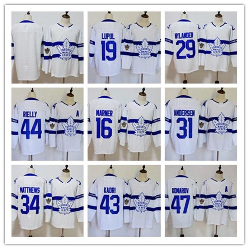 2018 Men S Toronto Maple Leafs Stadium Series  34 16 Mitch Marner 29  Nylander 100th Centennial Classic St Pats White Jersey From Bestjersey123 4bff0d5a7