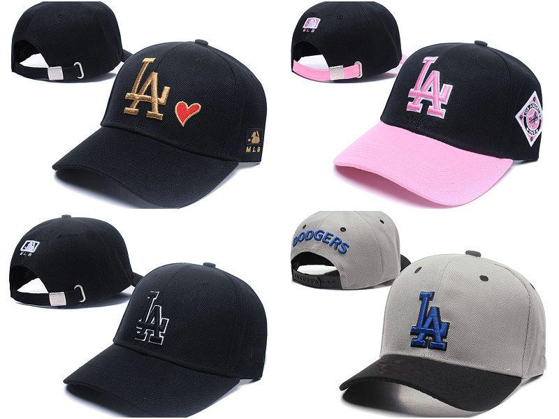 f91614d7ae4 2018 Top Sale LA Baseball Fitted Hats Men Sport Hip Hop Fitted ...