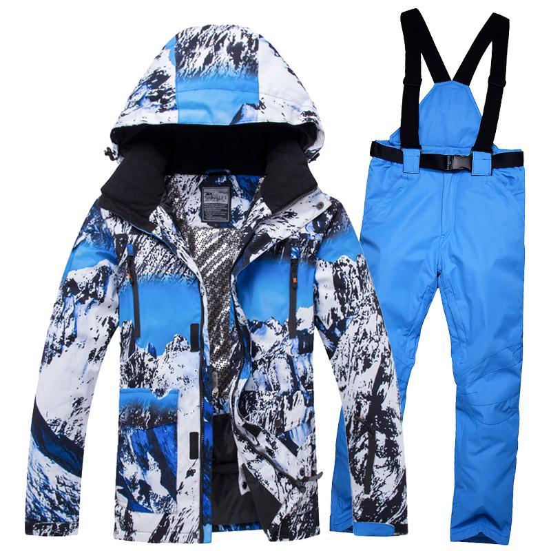 Acquista Giacche Da Sci Da Uomo Di Buona Qualità Pantalone Termico 30 Gradi  Giacche Da Snowboard Singel E Doppio Da Snowboard Impermeabile Antivento Da  Sci ... d4e4867a762