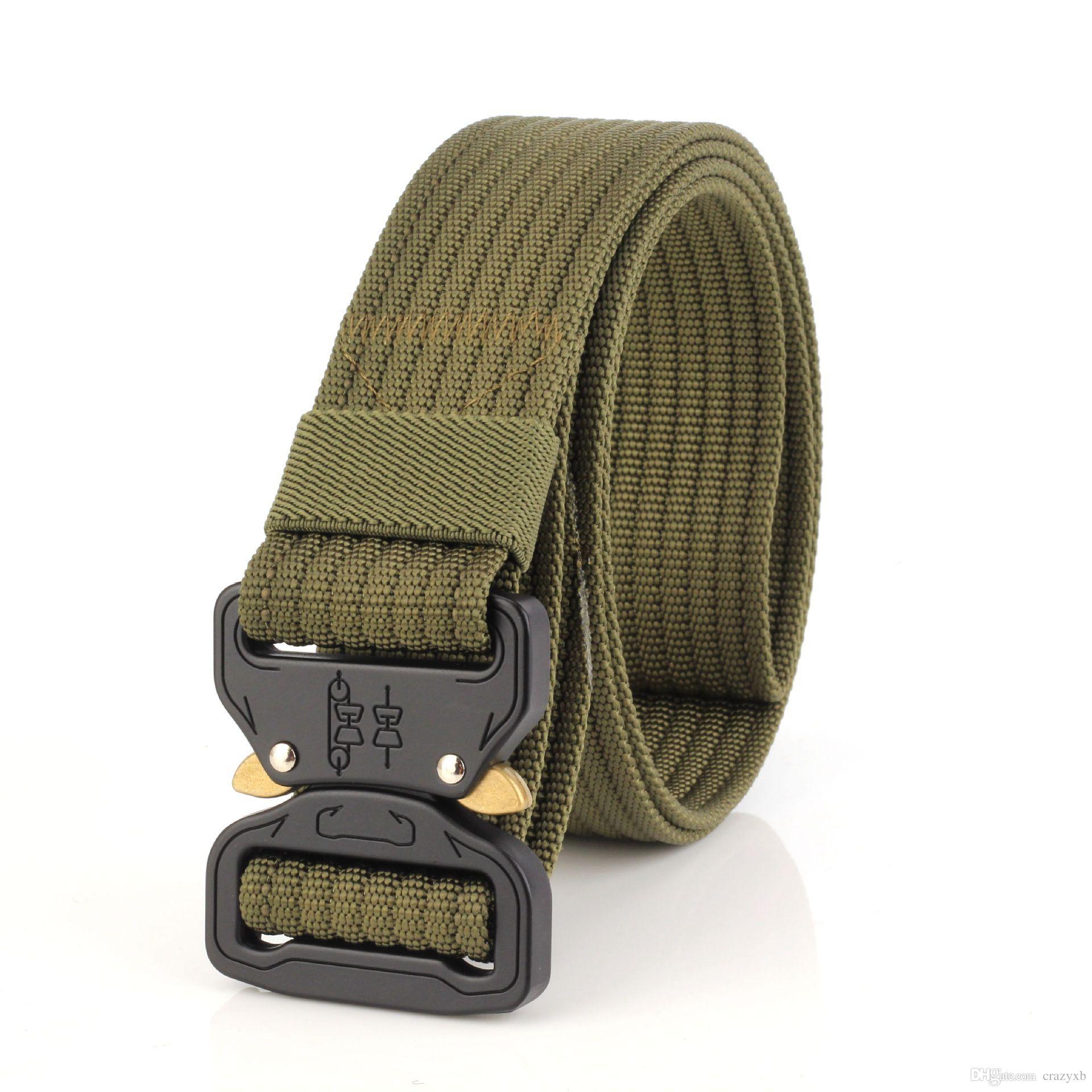 Hombres SWAT Equipo militar Paintball Army Belt Heavy Duty US Soldado Combat Tactical Belts Nylon Waistband