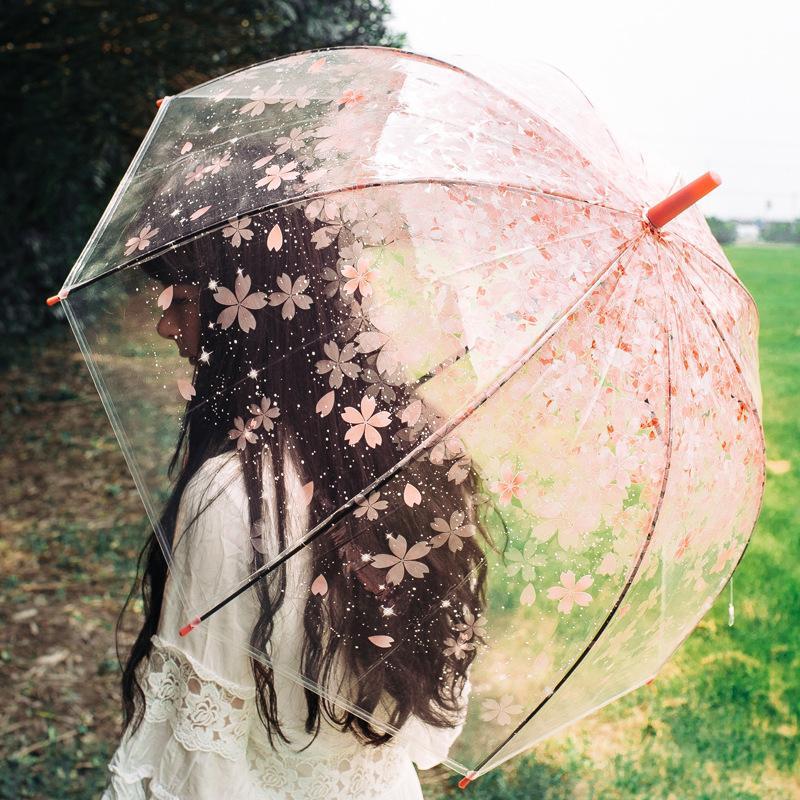 476f1e1e3 2019 SAFEBET Sakura Transparent Umbrella Semi Automatic Kids Umbrellas  Apollo Cute Umbrella Long Handle Rain Umbrellas For Girl From Likejason, ...