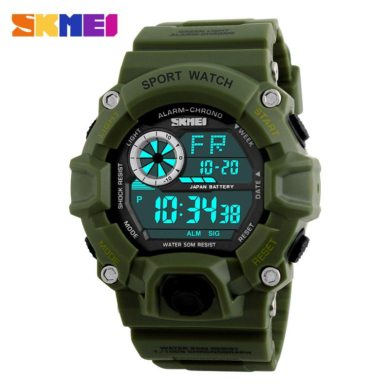 SKMEI Brand Relogio New Men  Sports Watch LED Digital Multifunction 50M Dive Swim Fashion Dress Outdoor Wrist Watches