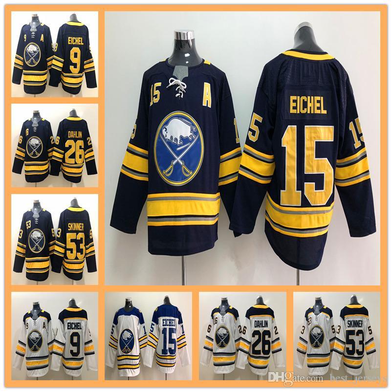 2018 Men Buffalo Sabres Hockey Jersey 9 Jack Eichel 15 Jack Eichel ... 977596794