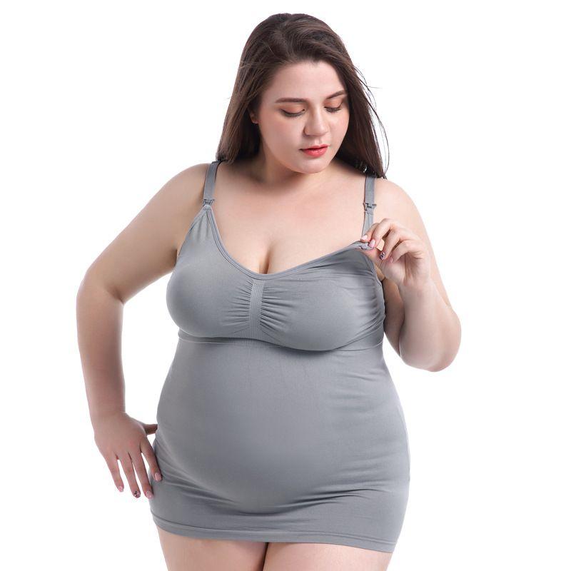 a2417355387e3 2019 Bra Lingerie Bralette Push Up Bras For Women Brassiere Plus Size Tops  Pregnant Cotton Underwear Grey Breastfeed Fat Mom From Shuangyin1998