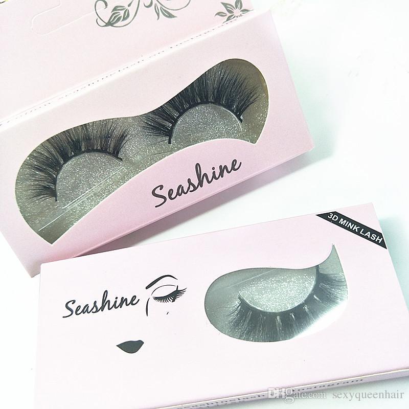 Le ciglia di lusso di 10 paia di strisce di moda personalizzano le ciglia di visone sexy 100% handmade 3D estensione dei cigli di visone Spedizione gratuita