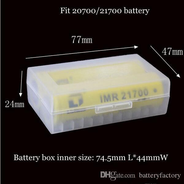 20700 21700 Taşınabilir Plastik Kasa Kutusu Emniyet Tutucu Saklama Kabı için Temizle Paketi Piller Lityum iyon Pil Şarj Mech Wrap
