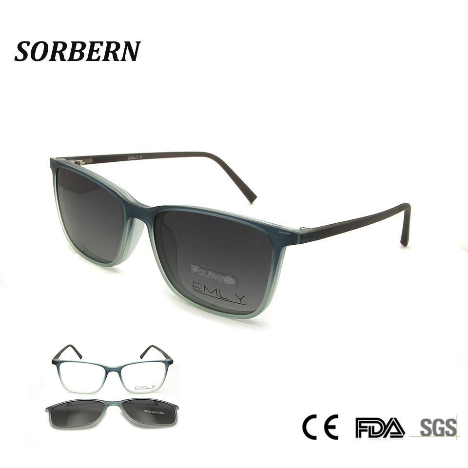b146a6f3902a 2019 Man Glasses Frame Optical Frames Polarized Clip On Sunglasses  Spectacles Women Sun Square Eyeglasses Monturas De Lentes Hombre From  Marquesechriss