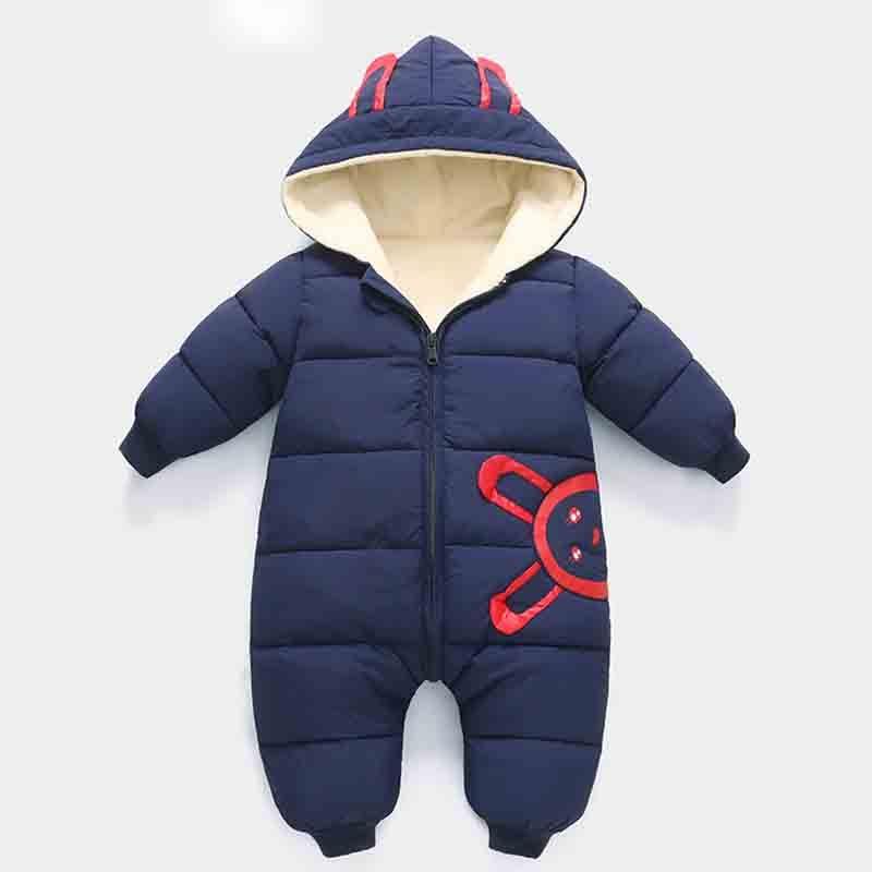 ef8f19444456 30 Degrees New Born Baby Wear Winter Jumpsuit Snowsuit Boy Warm ...
