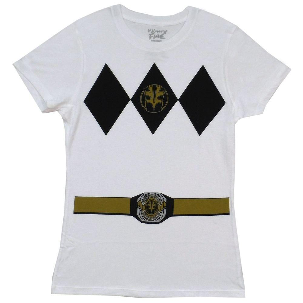 655d669bbdd Power Rangers White Ranger Costume Symbol White Junior T Shirt Of T Shirt T  Shirt On From Lanshiren5