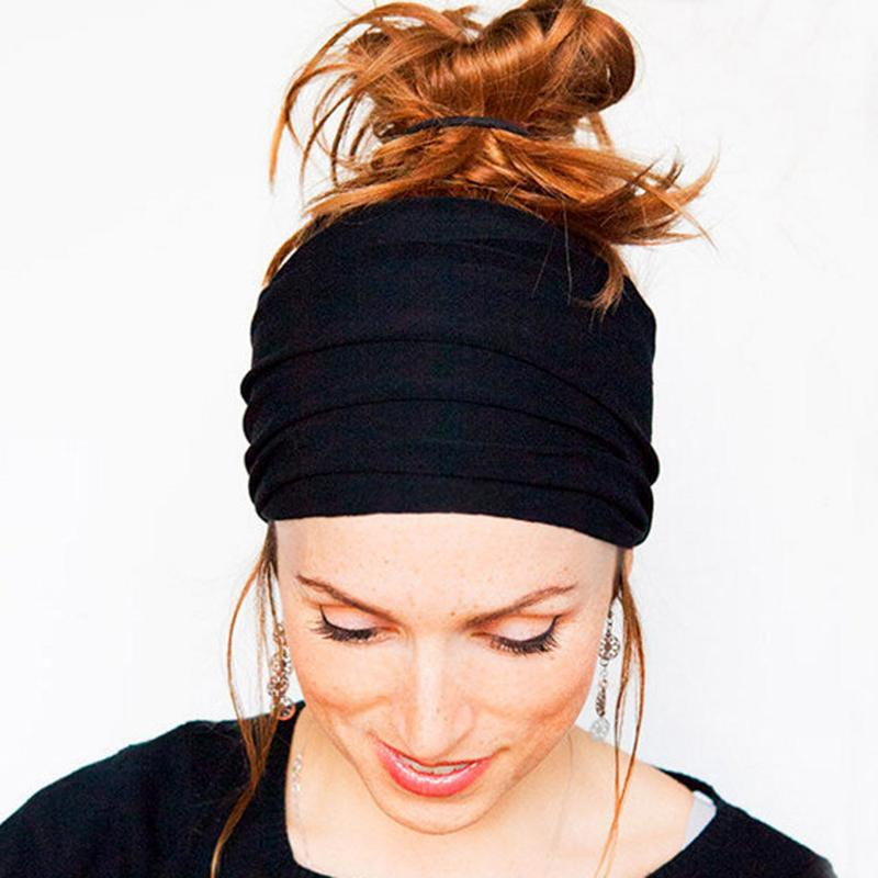 4a5d4b162dea Solid Wide Patchwork Cotton Sports Headband For Women Adult Elastic Turban  Headwraps Hair Accessories Yoga Hair Bands Cheap Yoga Hair Bands Solid Wide  ...
