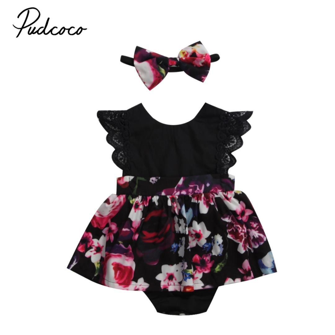 aa45cd243736 Cute Family Clothes Newborn Baby Girl Infant Kids Romper Jumpsuit Tutu  Floral Dress Handband Clothes Outfit Matching Dresses Matching Easter  Family Outfits ...