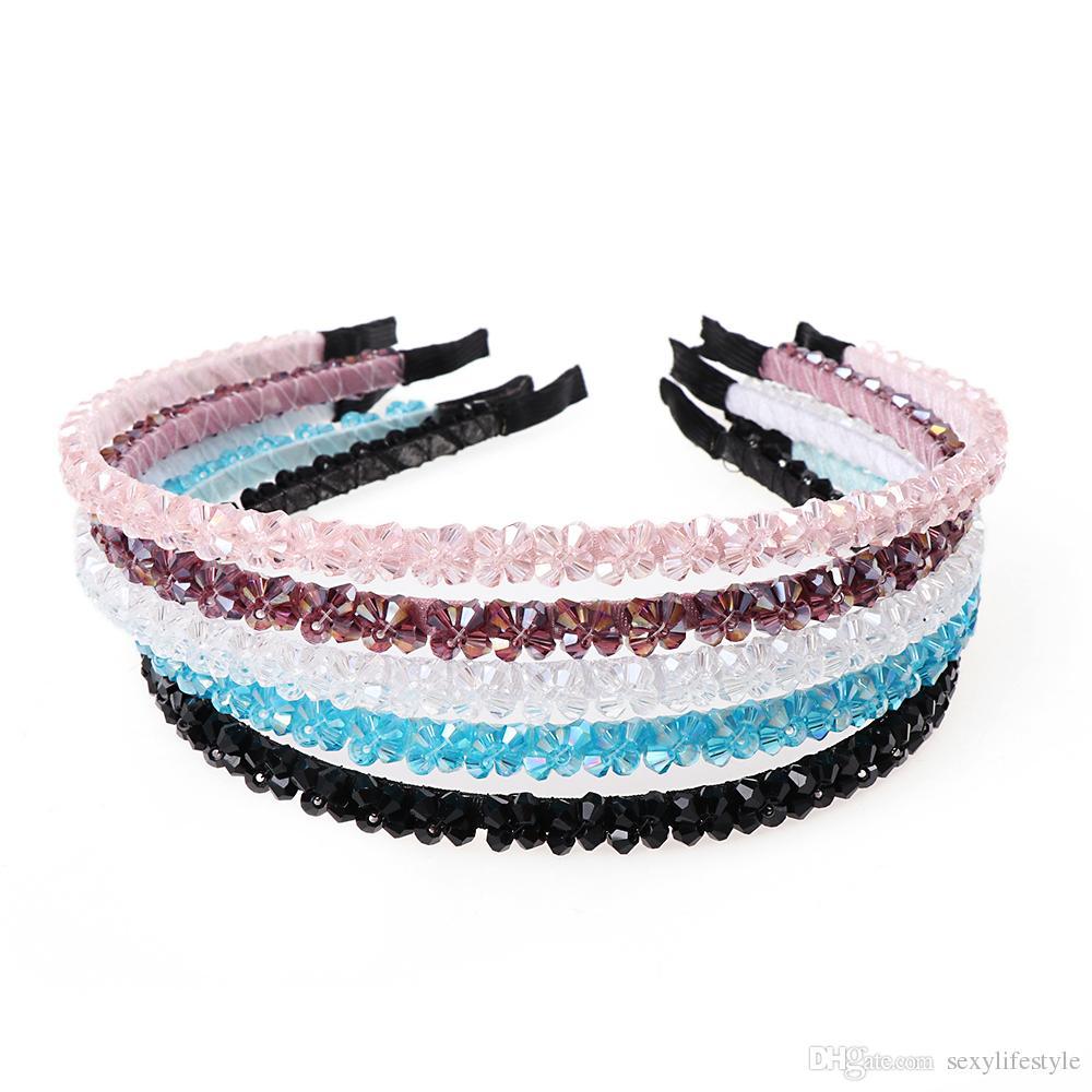 Mode Frauen Mädchen Metall Kristall Haarbänder Stirnband Schmuck Headwear Haarband Zubehör