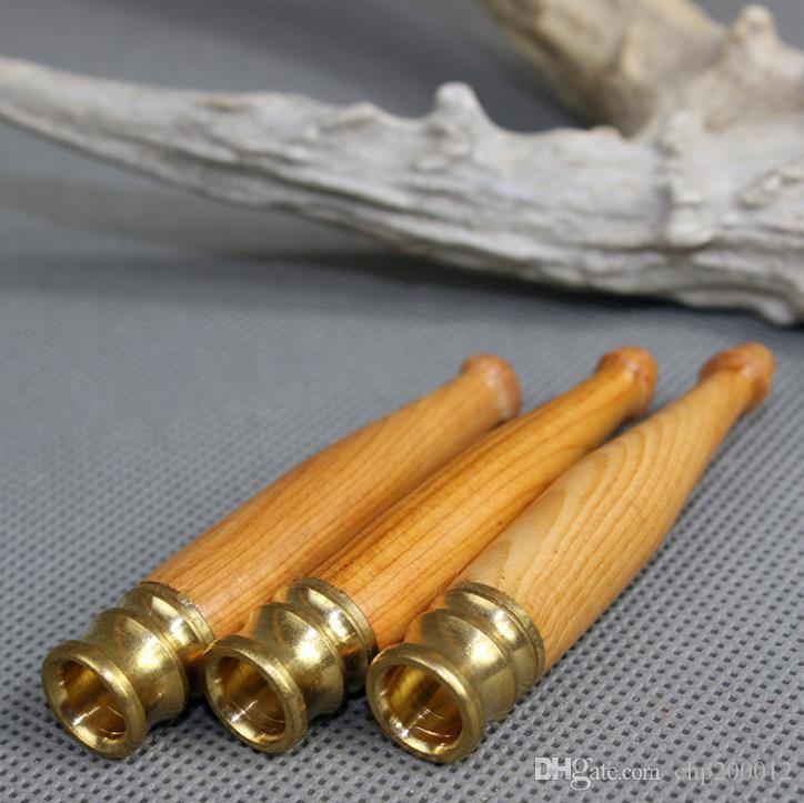 Può pulire la protezione ambientale mogano sigaretta bocca 11mm tromba Taxus rame testa filtro sigaretta titolare