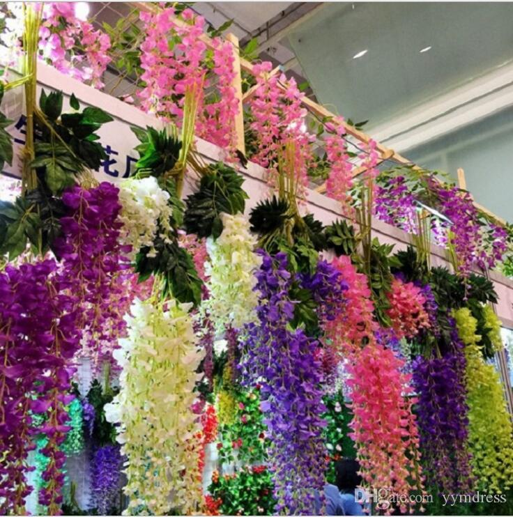 2018 Wisteria Wedding Ideas Elegant Artifical Silk Flower Wisteria