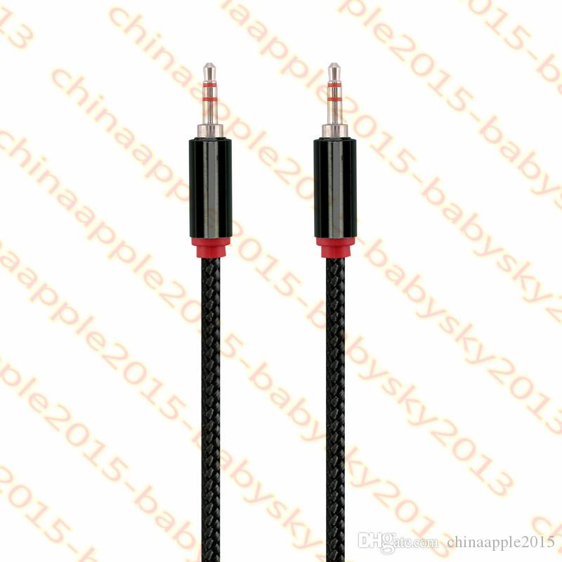 Auxiliary Car stereo Aux audio cable 3.5MM Thicker OD 4.5 2M 6FT Audio cables for iphone samsung ipod mpheadphone speaker