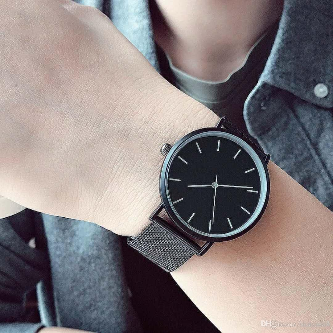 Men's women 2018JC new light steel woven leather machinery, automatic wind minimalism, neutral stereo, Valentine's day watches, gift watches