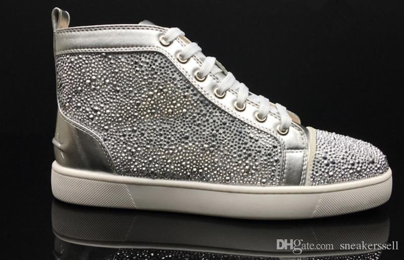 faa7af9f7c1f Man Shoe New Luxury Black Gold Glitter Sequins Red Bottom Shoes ...