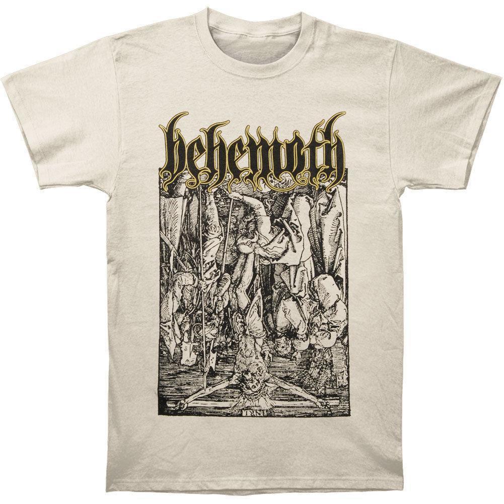 25ddc1ac Behemoth Men's Lvcifer Tee (Natural) T-shirt Natural Summer Short Sleeve Shirts  Tops S~3Xl Big Size Cotton Tees Free Shipping