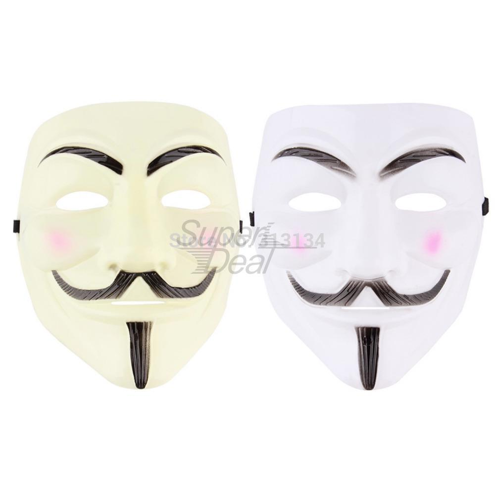Cosplay Mask V For Vendetta Mask Anonymous Movie Guy Fawkes Halloween Masquerade Party Face March Protest Costume Accessory hot