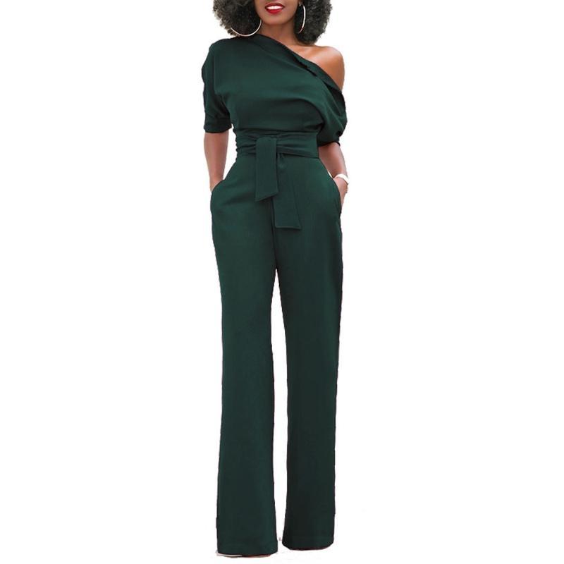 Acheter Combinaison Pantalon Sexy À Épaules Dénudées Pour Femmes ... bb9e3b2fe28