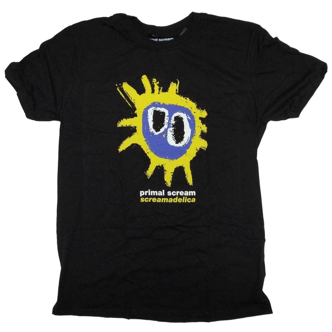 Primal Scream T Shirt - Screamadelica Cover 100% Official 100% cotton casual printing short sleeve men Brand Men T shirt 2018 High quality