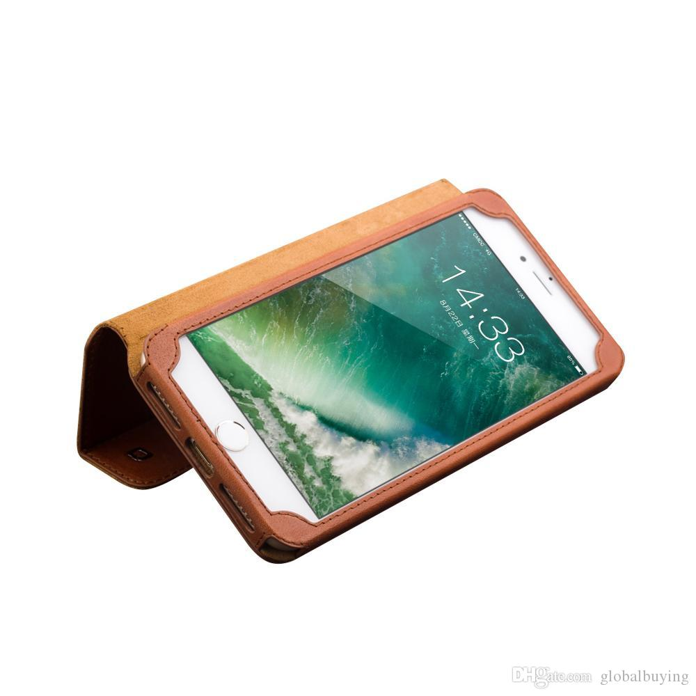 Stand Function Leather Case For Iphone 7 Plus With Business Card ...