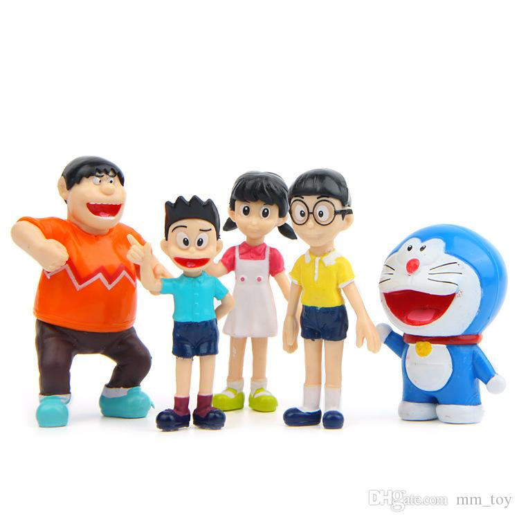 5.8cm Classic Limited Edition Doraemon Toy Figure Collection Gifts for Kids DIY Micro Landscape Decoration Props Dolls