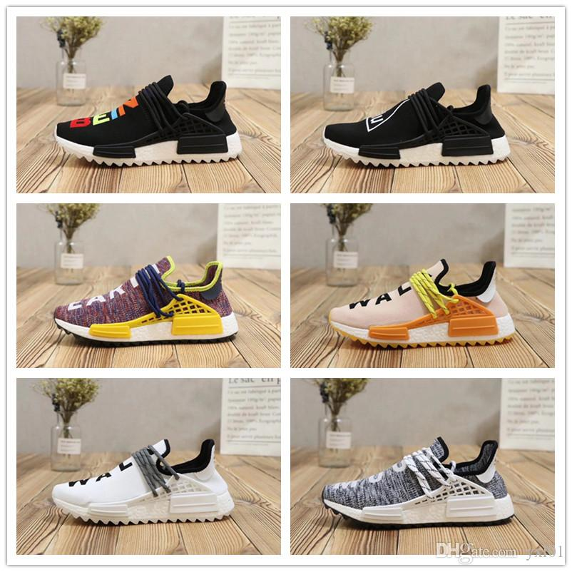 5581c6c5e80c 2018 High Quality Pharrell Williams Human Race PW X CC HU Casual Running  Shoes For Men Women Trainers Athletic Sports Sneakers Size 36 44 Men Shoes  On Sale ...