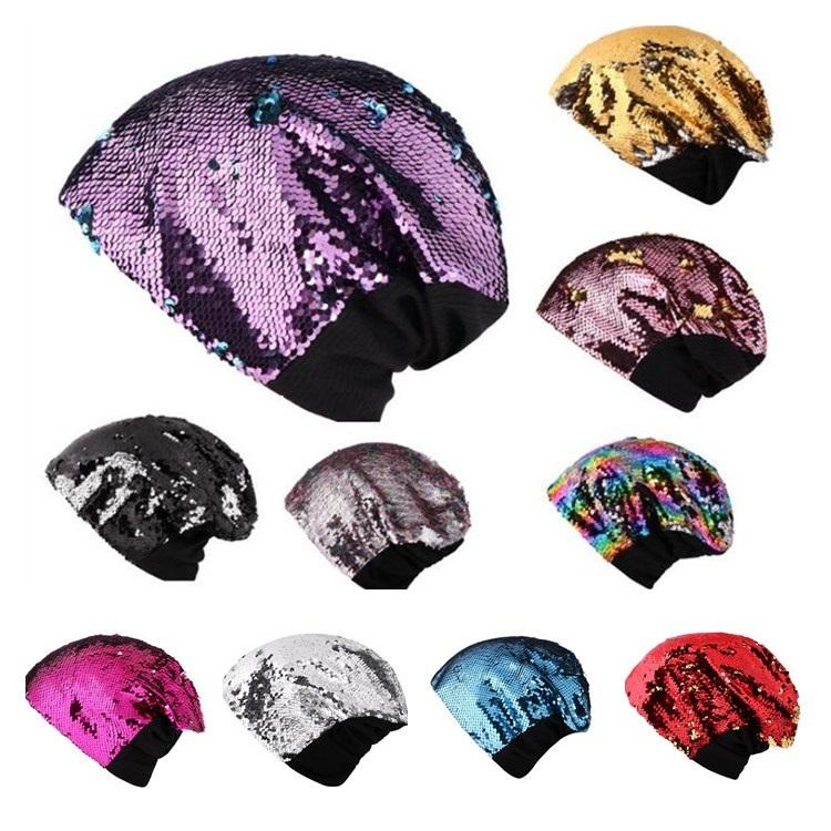 8f7312f1ee0 Fashion Factory Direct Sale Wholesale European And American Sequins Ladies  Knitted Party Hat Leisure Keep Warm Ear Protection Head CapT7I354 Childrens  Party ...