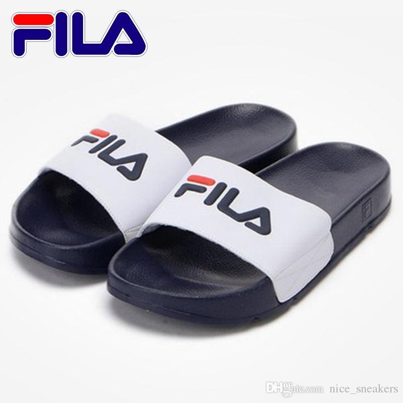 ea2af42594246 ... Fila Designer Slippers Mens Womens 2018 Scuffs Beach Slipper Shoes  Sandals Black White Red Anti- ...