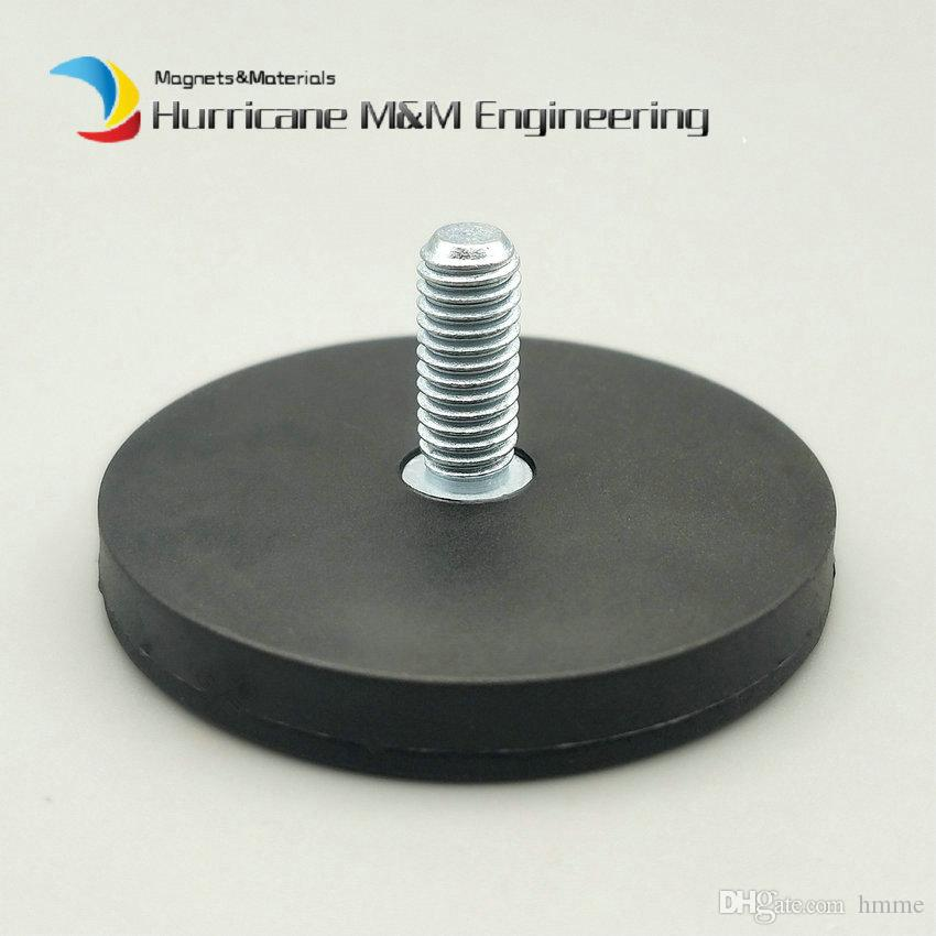 NdFeB Magnet Mounting Magnetic Disc in Rubber Diameter 22 43 66 88 mm LED Light Holding Spotlight Holder Male Thread Strong Neodymium Magnet