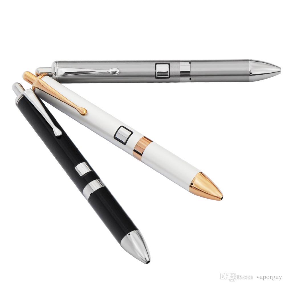 Portable mini cire vape stylo e cigarette 710 dab stylo concentre vaporisateur double bobine de quartz chauffage clip de fixation stylo e cigarette