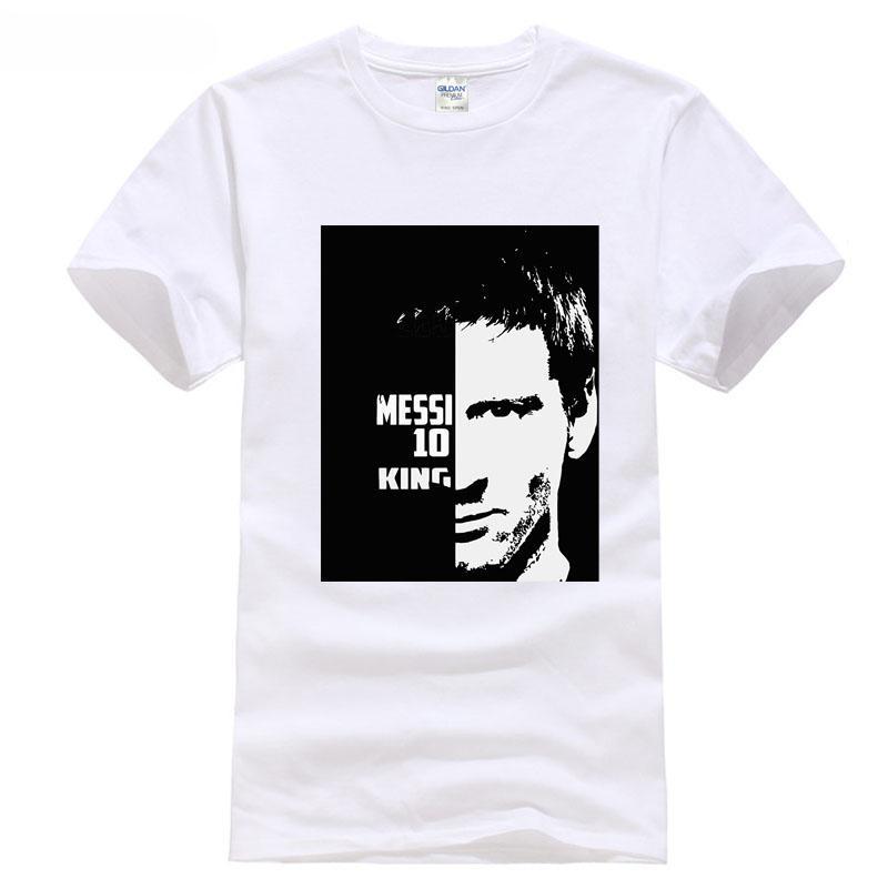 bae0ef2b2 2018 Cup European League Barcelonat To 10 Messi T Shirt Footballer King  100% Cotton All New Size T Shirt Colour Jurney Print A T Shirts Fun T  Shirts Online ...