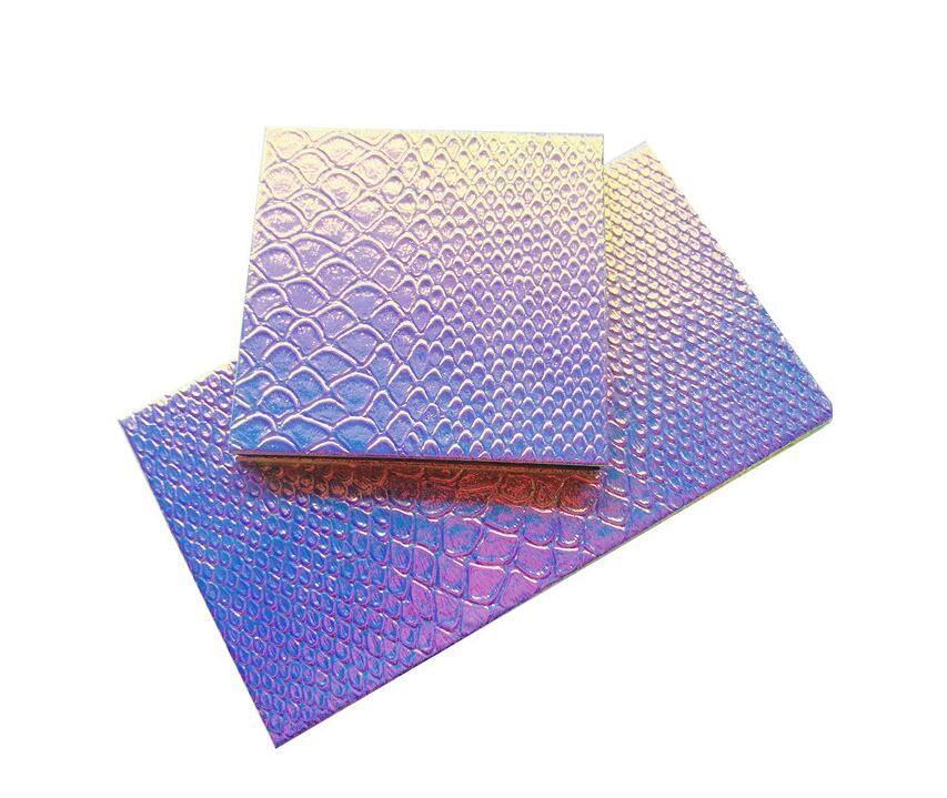 New Hot Maquillage des yeux Pallete Ombre Palette magnétique Glitter Modèles d'écailles de poisson Eyeshadow cas cosmétique Conteneurs