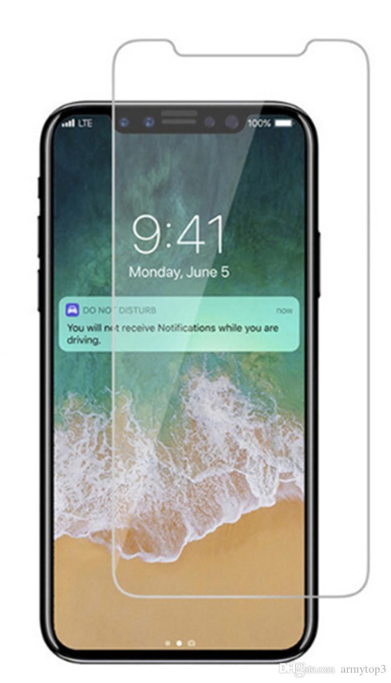 Pour iPhone X 8 7 7 plus 6 J7 2017 LG Stylo 3 Film Protecteur D'écran En Verre Trempé Pour Samsung S6 S7 SF Qualité Premium