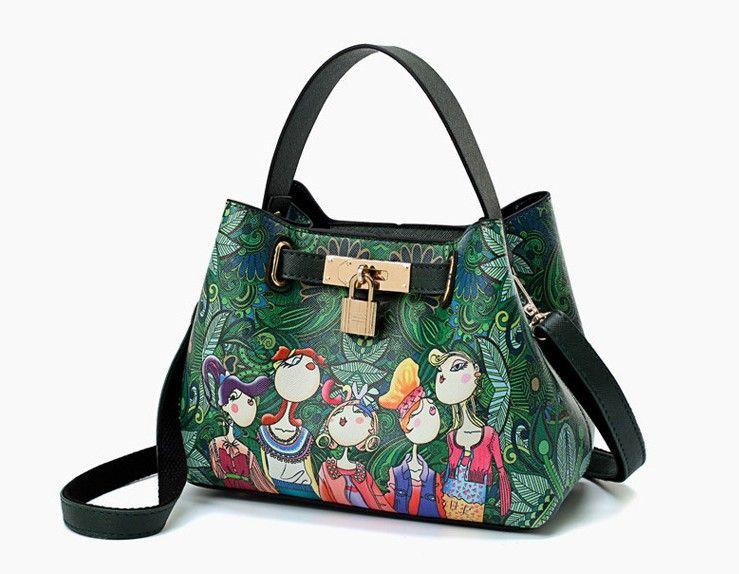 2018 Female Bag Casual Fashion Woman Bag Metal Chain Ladies Handbag PU  Small Mini Cross Body Shoulder Bags Totes Modern Girl A12 Messenger Bags  For Women ... eec3c0f066376