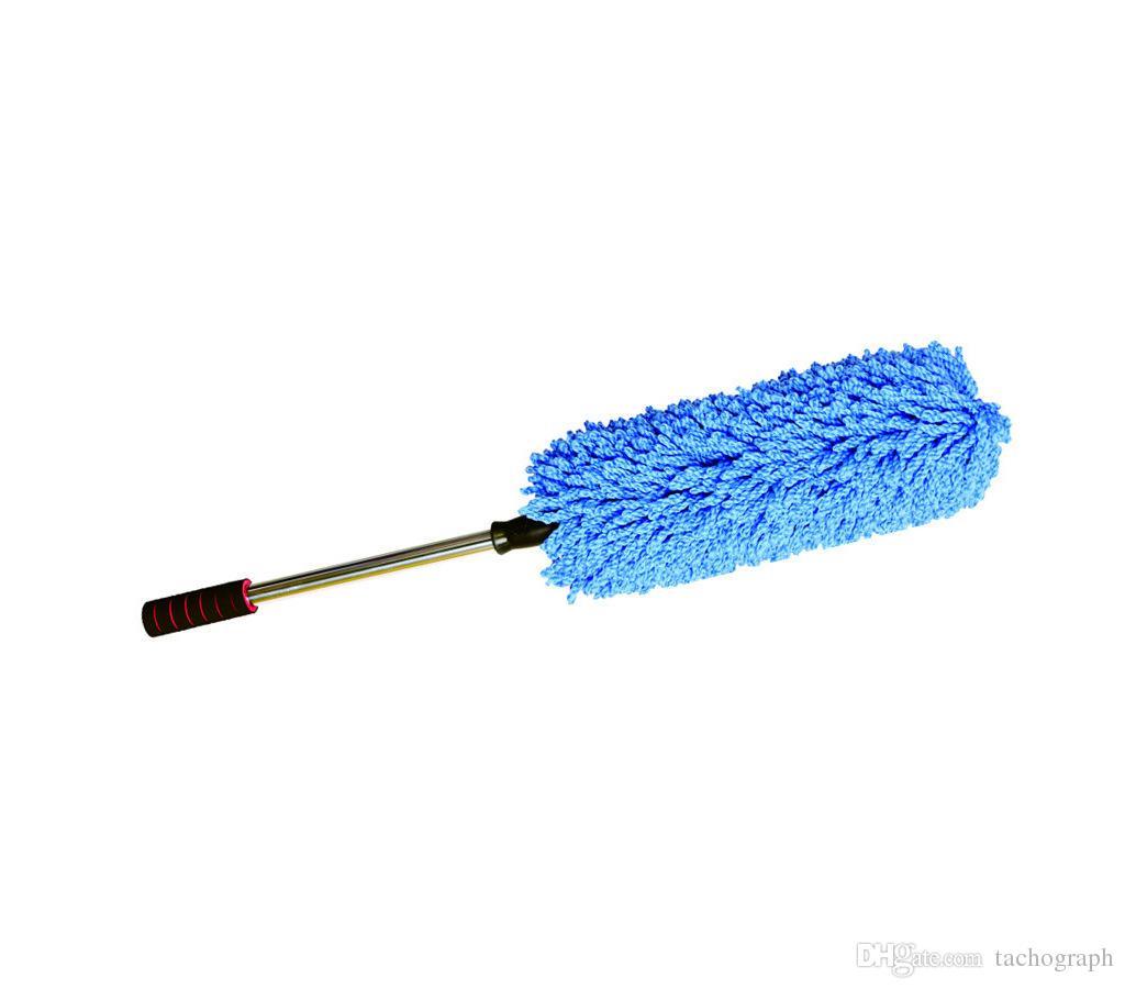 Otomobil balmumu fırça ince fiber koyulaştırıcı balmumu römork, teleskopik balmumu fırça dairesel toz toz bezi, araba yıkama toptan.