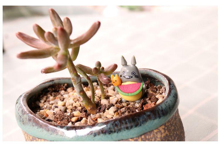 3*4cm Lovely My Neighbor Totoro Miniature Figurines Toys Model Kids Toys PVC Japanese Cute Anime Children Action Figure Toys