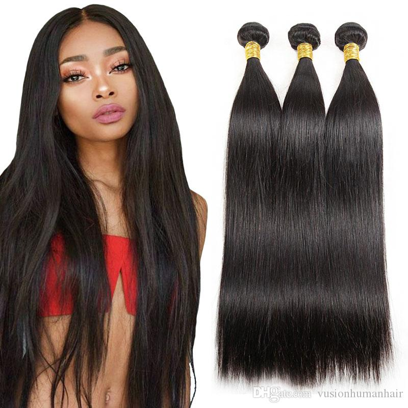 Cheap Straight Weave Raw Indian Hair 3 Bundlesunprocessed Virgin