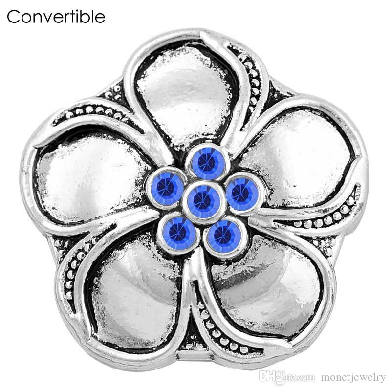 Rivca Flower inserts convertible Metal alloy silver gold magnetic Brooch For women fit antique Scarf Clip Vintage Muslim pin Brooches