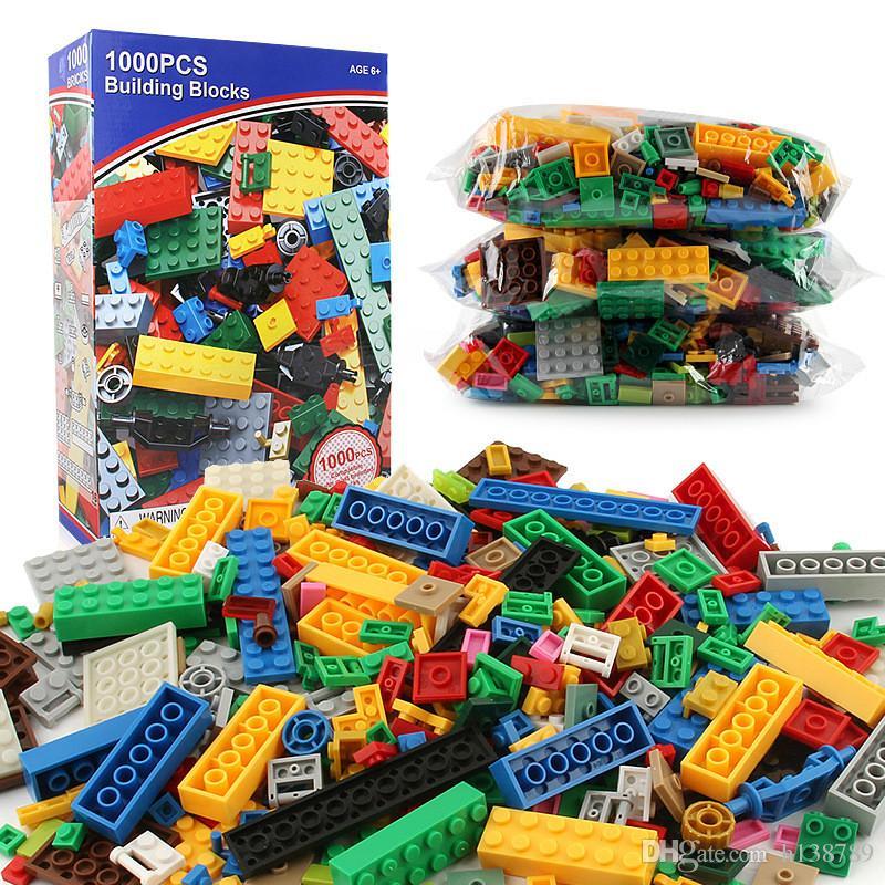 1000 Pièces Blocs de Construction DIY Legoings Ville Créatif Briques Jouet Modèle Éducatif En Vrac Jouets pour Enfants Cadeau D'anniversaire