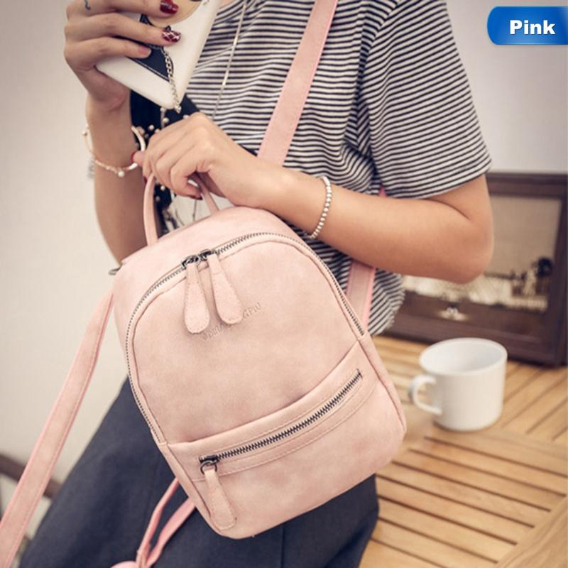 Women Backpack New Fashion Casual Pu Leather Female Backpack For ... 7c82fb5366380