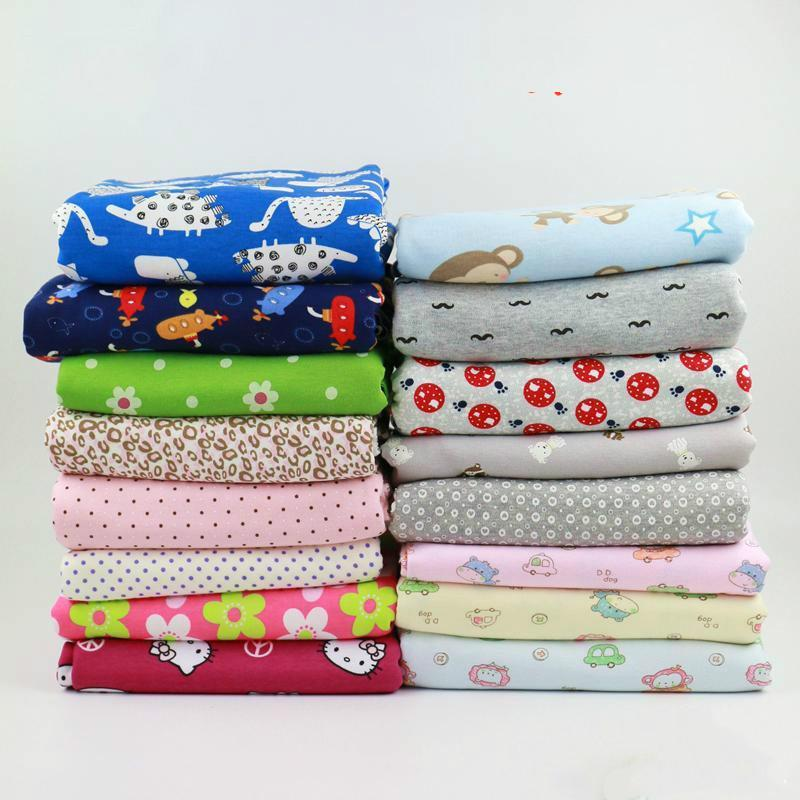 18da93ed945 2019 Printed Strechy Cotton Knitted Fabric Cartoon Baby Cotton Jersey  Fabrics For DIY Baby Clothing Making Fabric 50*160cm From Paluo, $37.82 |  DHgate.Com