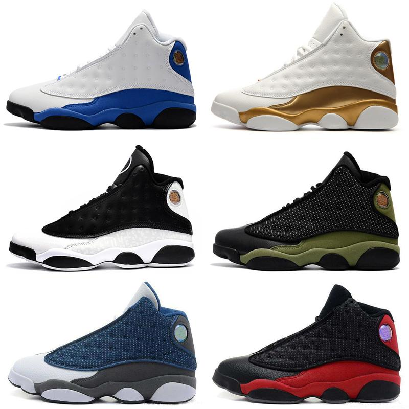 49a727e494626b Cheap 13 13s Mens Basketball Shoes Hologram Barons Olive Ivory Bred ...