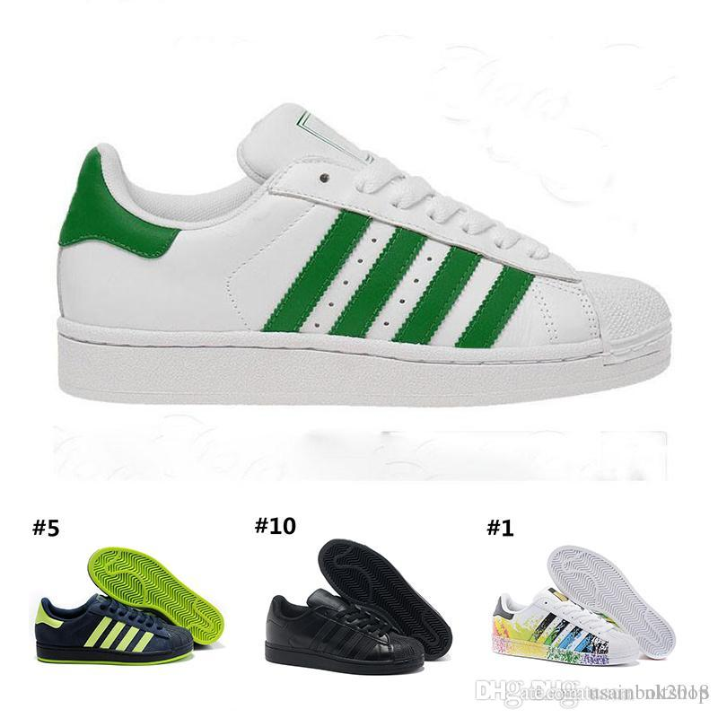 the best attitude b73f1 51d6c Großhandel Adidas Originals Superstar Superstar Original White Hologramm  Schillernden Junior Gold Superstars Turnschuhe Originals Super Star Frauen  Männer ...