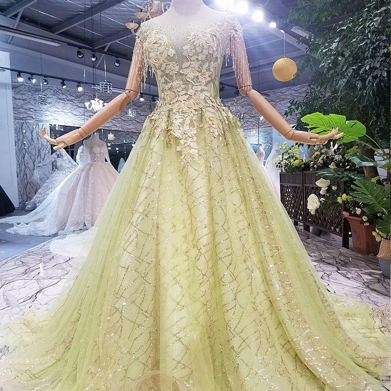 666585c8409ad 2019 Tassel Short Sleeve Prom Dresses Illusion Deep V Neck Hand Made 3D  Floral Applique Sequins Pearl Beaded Turkish Elegant Evening Gowns
