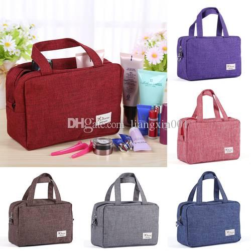 09ccc6287a97 Travel Home Cosmetic Women Makeup Bag Toiletry Case Wash organizer Storage  Hanging Pouch Snack Underwear Bags Multi Color Fast Ship