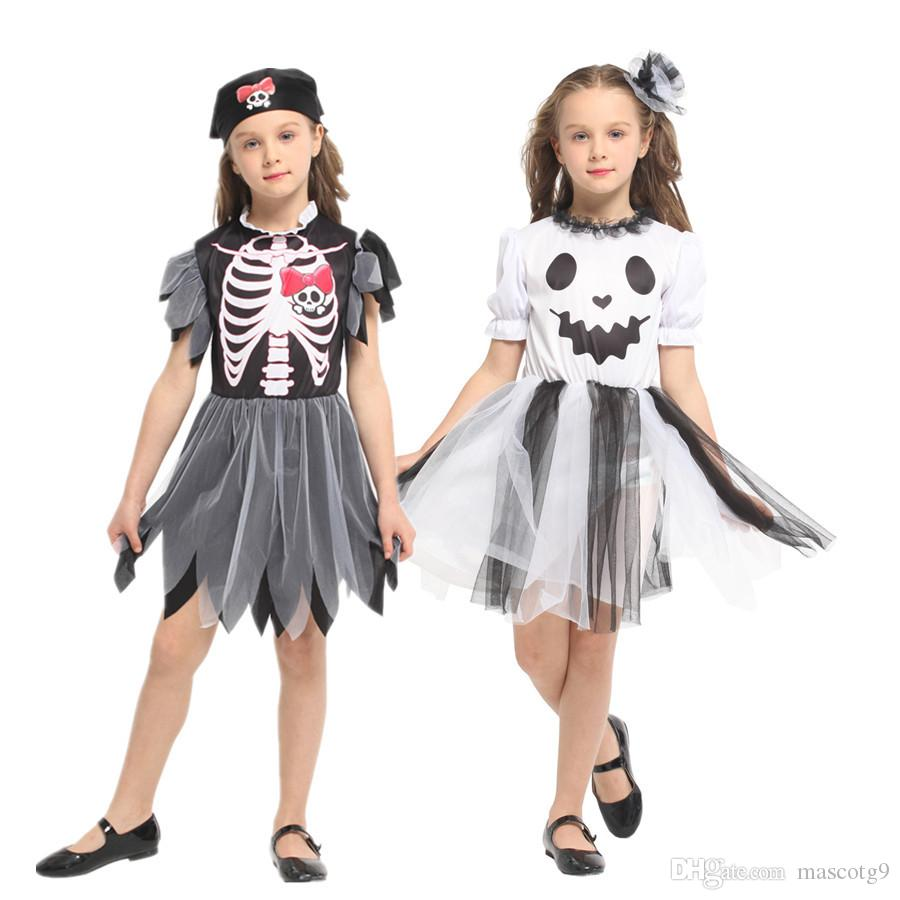 halloween costume spooky little girl spooky pirate cosplay costume kids party dress six person halloween costumes team halloween costumes office from