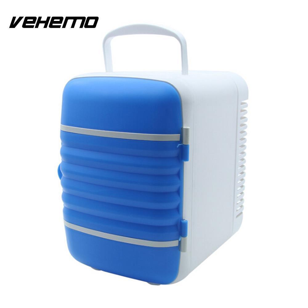 Vehemo Dual Use 4L Protable Fridge Freezers Car Fridge Freezer Car Portable  Durable Travel DC 12V