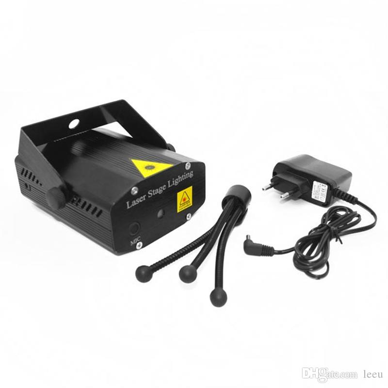 150mw 미니 레드 그린 이동 파티 파란색 / 검은 바디 레이저 무대 빛 레이저 DJ 파티 빛 Tripline 삼각대 LED 무대 램프